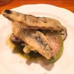 神楽坂しゅうご - イワシのフリット、野菜のマリネ添え
