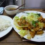 宝来 - 肉野菜炒め&から揚げ定食
