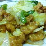 宝来 - 肉野菜炒め&から揚げアップ