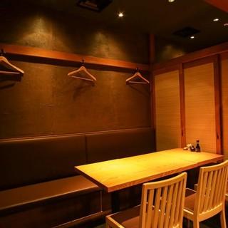 大人な雰囲気の完全個室