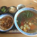 池田屋 - ラーメンミニ牛丼セット 930円