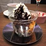ブラッスリー・ル・リオン - リエジョア(ショコラ)@手作りチョコレートアイスがおいしい。コアントローで大人味
