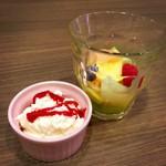 ブラッスリー・ル・リオン - クレームダンジュ&フルーツサラダ