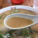 63292144 - 芳醇な豚骨スープ