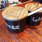 博多一双 博多駅東本店 - 辛子高菜は辛かった♪