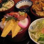 錦鮨 - 海の三福丼Ⅱ1,260円