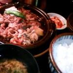 鳥珍 - 牛すき焼き定食