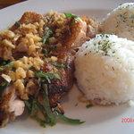 フラミンゴス - チキンのオーブン焼き マカデミアソイソース