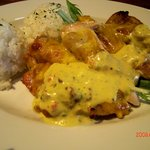 フラミンゴス - チキンのオーブン焼き マスタードソース