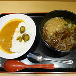 よもだそば - 【C】朝カレー定食¥390