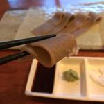 蕎麦切り大城 - 蕎麦刺しをお塩で