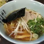 伝説のすた丼屋 - 醤油ラーメンセット870円のミニラーメン