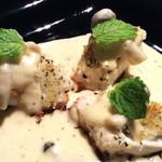 サルバシオン - 真鯛オーブン焼きクリームバジルソース