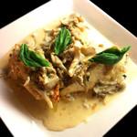サルバシオン - 真鯛のクリームきのこソースかけ