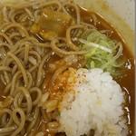 立ちそば処 杜 - カレー南蛮(ミニご飯付)