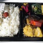 一福 - カジキマグロの漬けの焼魚弁当です