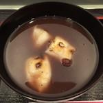 新杵 みちくさ餅 - おしるこ(アップ)