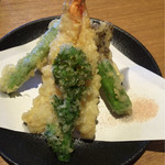 蕎麦たちばな - ミニ天ぷら