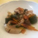 オステリア・ルッカ - 前菜:魚介と野菜のマリネ