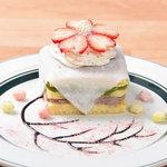 カフェ&パンケーキ gram - 抹茶とあんこの和風パンケーキ~さくら風味~