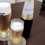 緒川 - 生ビールとノンアルビール