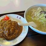 菊凰 - タンメン、小カレー