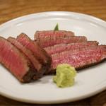 日本料理 とくを - 黒毛和牛のステーキ