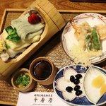 千寿亭 - 冷し素麺 天ぷら付 1,050円