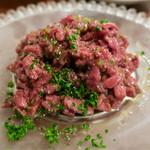 Nico Chelsea - 蝦夷鹿もも肉のタルタル 850円