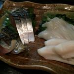 庄司 - 食べ比べタコ頭と炙りタコ頭
