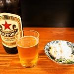 銀座屋  - 瓶ビール(大) & ポテトサラダ