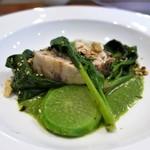 La vie - 料理写真:サワラのポワレ 緑のソース