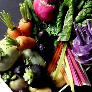 お肉だけじゃない、お野菜にもこだわりがあります。