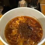 つけ麺 しろぼし - 辛さマシのつけ汁。ピリ辛でよいです('17/03/02)