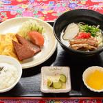 琉球亭 - 沖縄そば定食B