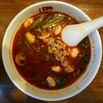 七宝 麻辣湯 - 薬膳、三辛、トッピングはチンゲン菜、マッシュルーム、納豆
