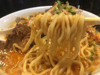 カラシビ味噌らー麺 鬼金棒 - 麺が以前より細くなりました。