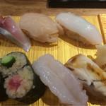 寿司 高瀬 - すみれ1300円税込の一部
