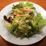 63362202 - 葉野菜サラダ(ランチセットの一品/パッポンキッチン) 2017.3