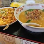 台湾料理 福香源 - これは会社の人が注文 麻婆丼+台湾味噌ラーメン