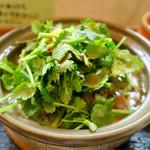 ラーメン暁 - 「カライパクチーメン」(950円)+「パクチー増量」(100円)