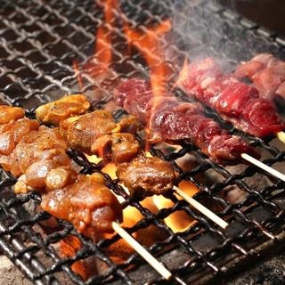 いろいろなお肉を串焼きでお手軽に