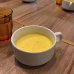 尼崎イタリアンVin Vin BAL - ランチのスープはニンジンのポタージュでした