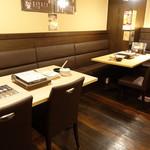 もつ奨 本場博多もつ鍋 - ☆オープンなテーブル席はこんな感じです(#^.^#)☆