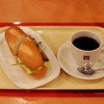 6337261 - 贅沢ミラノサンド ローストビーフとコーヒーのセット