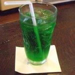 オーチャードグラス - メロンソーダです。