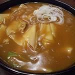 味処ふる川 - カレー南蛮860円(+ひもかわ110円)