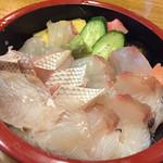 なかがわ - 料理写真:白身丼 1,650円