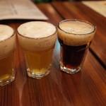 グレートジャーマンクック - 三種類の樽生ビールのテイスティングセット
