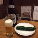 63381075 - 胡瓜とビール